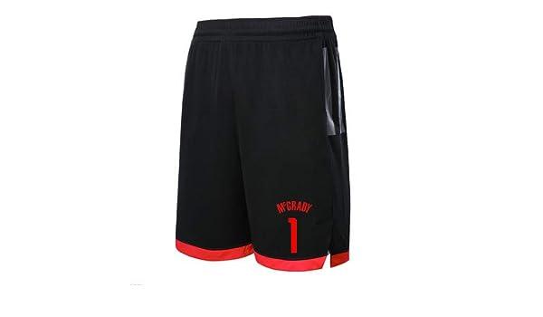 basketball suit Pantalones Cortos para Hombre Rockets 1# Pantalones De Baloncesto McGrady Ejercicio para Correr Pantalones Cortos Pantalones Cortos De Cinco Puntos Sueltos