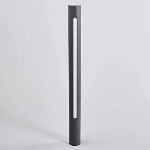 Lampenwelt LED Außenleuchte \'Tomas\' (spritzwassergeschützt) (Modern) in Schwarz aus Aluminium (1 flammig, A+, inkl. Leuchtmittel) - Wegeleuchte, Pollerleuchte, Wegelampe, Sockelleuchte