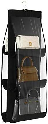 OCHILIMA Hängende Geldbörse Handtasche Veranstalter Haushaltswaren Nonwoven 6 Taschen hängenden Schrank Aufbewahrungstasche (schwarz)
