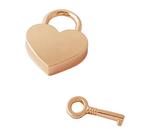 - GP Personalized Engraved Heart Shape Gold Key Padlock Locked In Love Wedding with Box Gift
