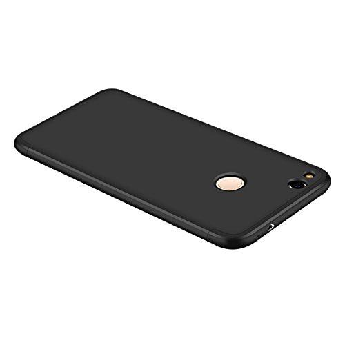 Huawei Honor 8 Lite Caso, Vandot de 360 Grados Alrededor de Todo el Cuerpo Completo de Protección Ultra Thin Slim Fit Cubierta de la Caja de Mate PC Absorción de impactos Shockproof para HuaWei P8 Lit QBHD PC 03