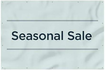 12x8 Seasonal Sale CGSignLab Basic Teal Wind-Resistant Outdoor Mesh Vinyl Banner