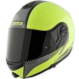 Speed & Strength SS1700 Lock and Load Helmet , Helmet Type: Modular Helmets, Helmet Category: Street, Distinct Name: Lock and Load Hi-Vis Green, Primary Color: Green, Size: XL, Gender: Mens/Unisex 876474