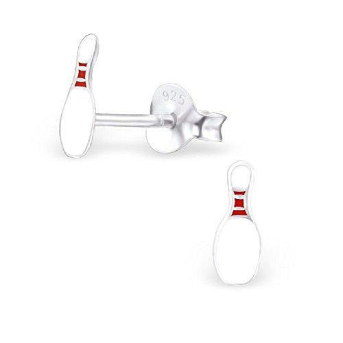ICYROSE 925 Sterling Silver Bowling Pin Stud Earrings 23947 ()