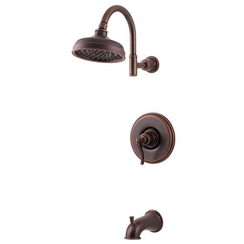 Faucets Bronze California Faucet Trim (Pfister LG89-8YPU Ashfield Tub & Shower Trim Kit 1.8 gpm Rustic Bronze)