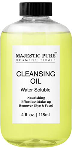 MAJESTIC PURE Face Cleansing Oil - Nourishing, Deep Facial Cleanser - Eye and Face Makeup Remover - Promotes Natural Skin Care Cleaning - 4 fl ()