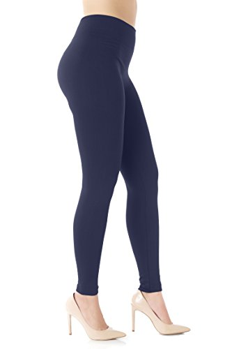 Conceited Fleece Lined Leggings for Women - LFL Navy Blue - Small/Medium