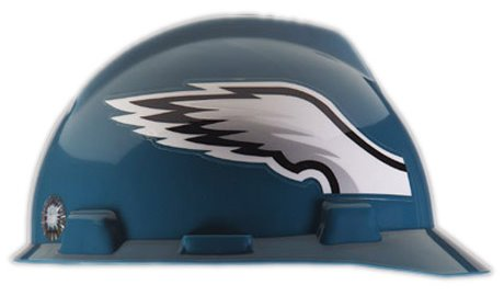 MSA NFL Hard Hat, Philadelphia Eagles, Green/White 1