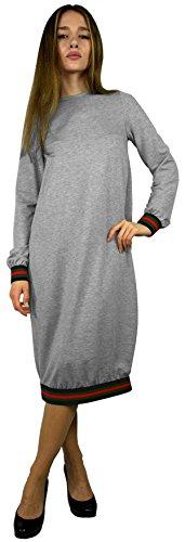 Baby'O Women's Designer Stripe Trimmed Comfy Dress - Trimmed Dress