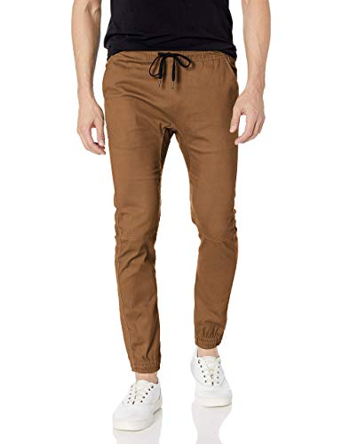 Brooklyn Athletics Men's Slim Fit Soft Twill Jogger Pants – Available in Multiple Colors & Styles