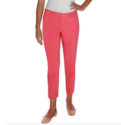 Mario Serrani Womens Comfort Stretch Fabric Slim Fit Pants 12x27, Coral Flamingo (Flamingo Coral)