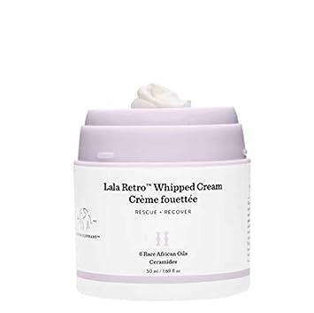 Drunk Elephant Lala Retro Whipped Cream. Replenishing Moisturizer for Skin Protection and Rejuvenation 1.69 Ounces
