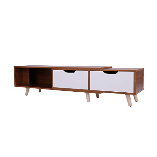 Chranto lucky 7 !!Father's day Simple Modern TV Cabinet Living Room Furniture Mini Telescopic TV Cabinet