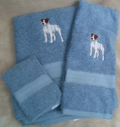 Jack Russell Terrier Dog Embroidered Bath (Big Jack Russell Terrier)