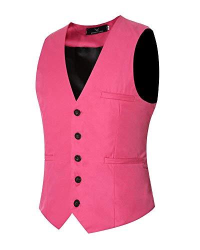 Rose Unie Slim Veste Couleur Boutons Confortable Costume Fit Loisirs Battercake Affaires Décontractée Hommes 5 OvqEwFx