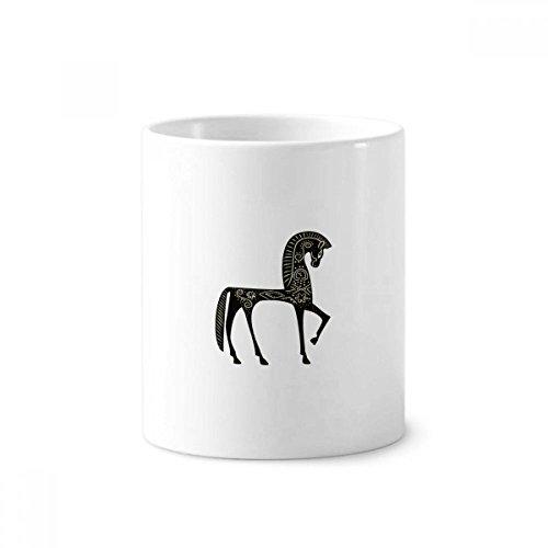Castle Dream Princess Style Horse Blue Yellow Toothbrush Pen Holder Mug White Ceramic Cup 12oz