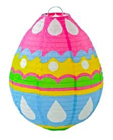 pal Easter Eggs Decorations Paper Lantern Hanging ()