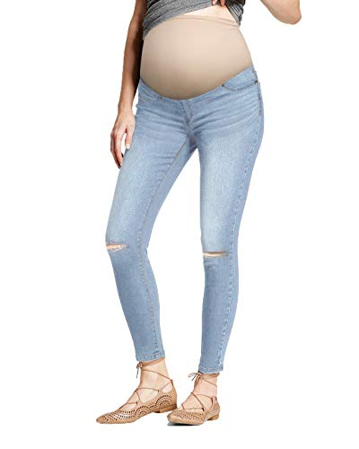 HyBrid & Company Super Comfy Stretch Women's Skinny Maternity Jeans PM5482RSK Light WASH XL