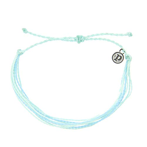 Pura Vida Jewelry Bracelets Bright Bracelet – 100% Waterproof and Handmade w/Coated Charm, Adjustable Band (Isla)