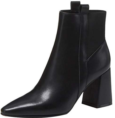 7CM Black Calaier ankxit Women Heel On Boots Pull Block 1qEUxwCBq