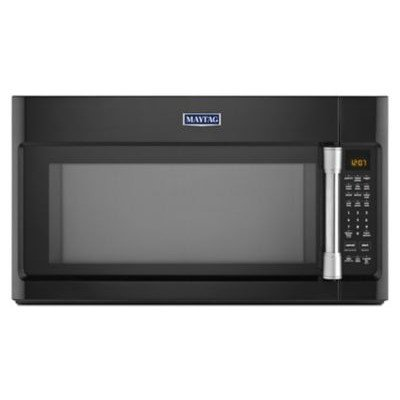 2.1 Cu. Ft. 1000W Over-the-Range Microwave with Wide Glide Tray Finish: Black