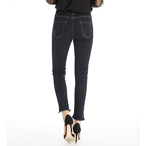 MVGUIHZPO Jeans Femme Neue Jeans, Winterjeans, Mode, dnn, Warm, Cowboy, elastisch, Fleece. XS