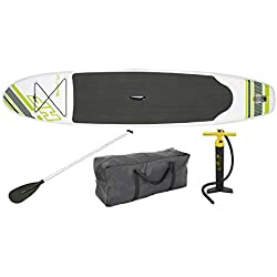 """Bestway Inflatable Hydro Force Wave Edge 122"""" x 27"""" Stand Up Paddle Board, Green"""