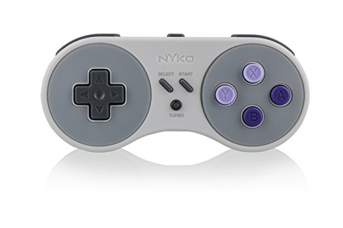 Nyko Super Miniboss - Wireless Controller with Turbo and Built-In Rechargeable Battery for SNES/NES Classic Edition
