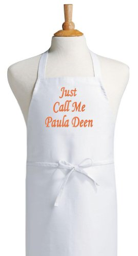 (Just Call Me Paula Deen Food Network Aprons, White, One Size Fits)