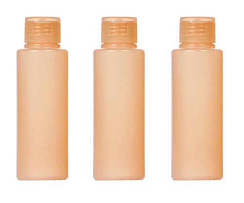 Nudes Essential Toner - 3PCS Plastic Empty Flip Cap Soft Squeeze Tubes Bottles Container Vial For Makeup Cleanser Cream Shampoo Shower Gel Essential Oil Lotion Sample Travel Toner(100ML/3.4oz)
