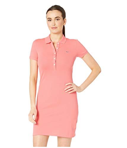 Lacoste Women's Classic Short Sleeve Stretch Mini Pique Polo Dress, Calypso ()