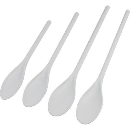 Mainstays Poly Mixing Spoon Set, 4pc Nylon Cooking Spoon