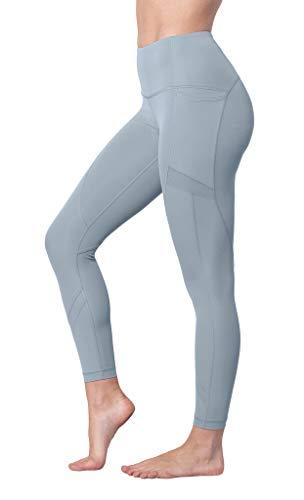 90 Degree By Reflex Women's High Waist Athletic Leggings with Smartphone Pocket - Ocean Haze Mesh Ankle Leggings - Large