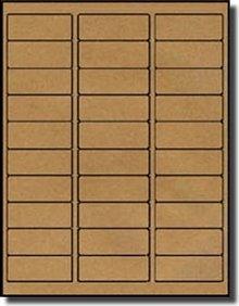 Kraft Laser Labels - 600 Blank Address Labels 2-5/8