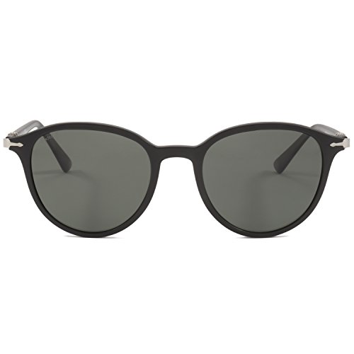 Persol Sunglasses Black Matte/Green Plastic - Polarized - - Black Matte Sunglasses Persol