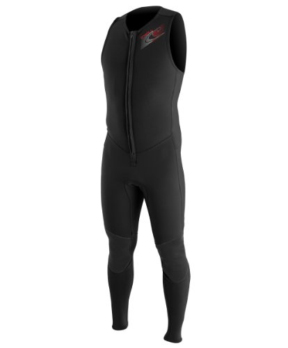 O'Neill Wetsuits Mens Superlite John Wetsuit, Black, Large
