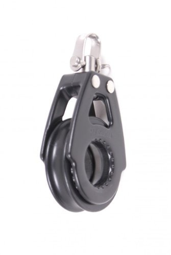 Nautos # 92010-Organic line-SINGLE SWIVEL - 57 mm sheave diameter-Aluminum & composite for less friction and high resistance. Sailboat hardware