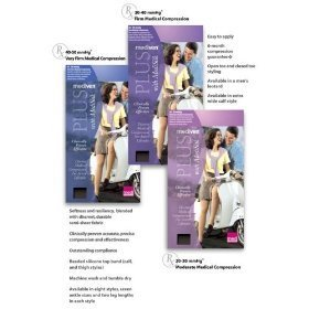 Mediven Plus, Thigh-High With Beaded Top Band, 20-30mmHg, Open Toe, Compression Stocking, Beige, II by (Beaded Thigh High Stockings)