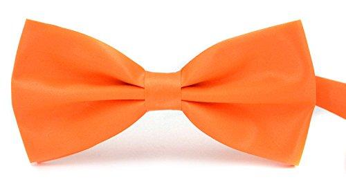 Orange Bowties (Taishenyuan Mens Classic Pre-Tied Satin Formal Tuxedo Bowtie Adjustable Length Large Many Colors Available (orange))