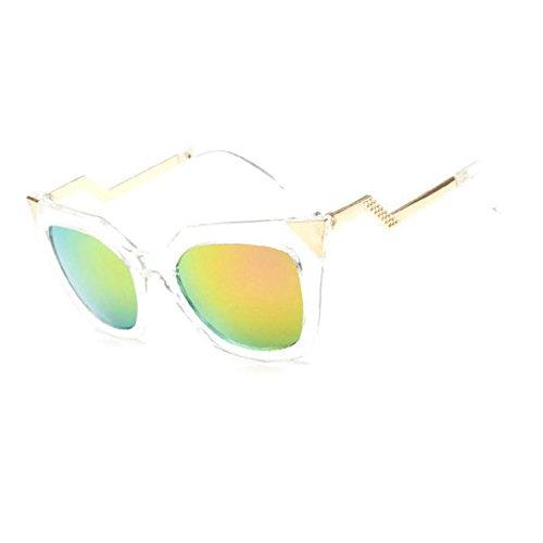 Aoligei Lunettes de soleil lunettes de soleil métalliques européennes et américaines réflectorisé fashion lady lunettes de soleil couleur lumineuse marée personnes bMBy1