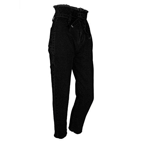 Donna Lunghi Pantaloni mambain Denim A Larghi In Jeans Elastico 8311 Skinny Alta Vita rrCfw1q