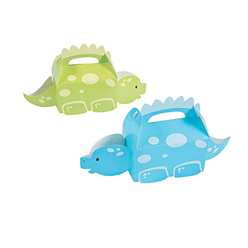 Fun Express Little Dino Treat Boxes | 12-Piece Set | Great for Kids Birthday Party and Halloween -