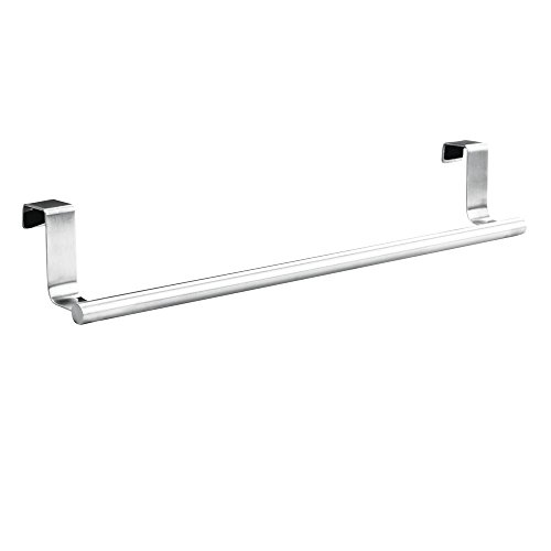"InterDesign Forma Over-the-Cabinet Bathroom Hand Towel Bar Holder - 14"", Brushed Stainless Steel"