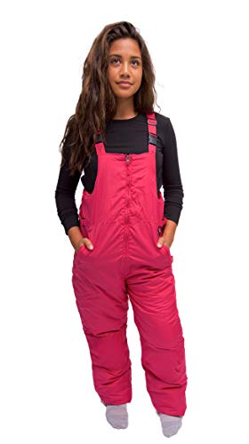 Insulated 16 Knee Boot - Snowsuits for Kids Youth Girl's Insulated Bib Snowpants (16-18, Hot Pink)