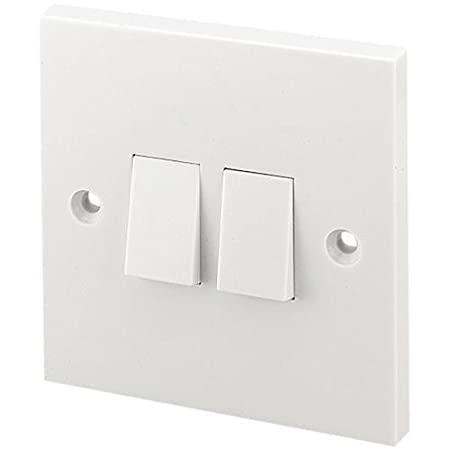 2 GANG 2 WAY LIGHT SWITCH WHITE PLASTIC LG202: Amazon.co.uk: DIY & Tools