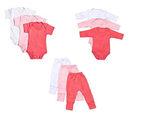Body Bebê e Calça Mijão Kit 9 Peças Feminino (P)