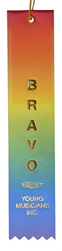 BRAVO Music Award Ribbon (package of 5)
