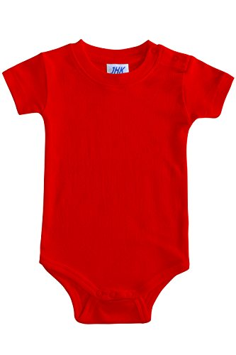 FRESH TEE Short-Sleeve Baby Bodysuit (6M, Red) ()