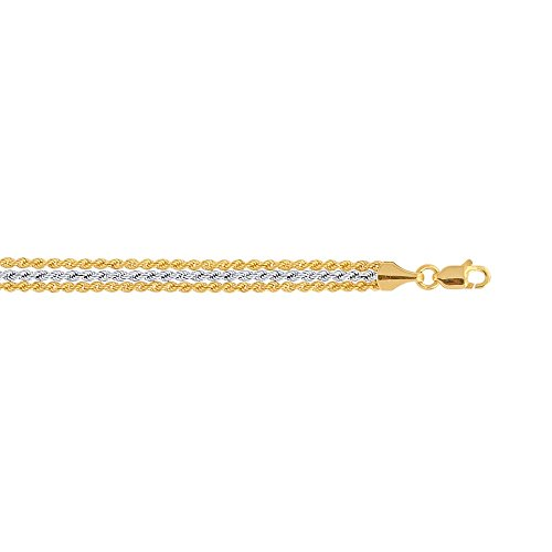 10 k Bracelet chaine de corde - 18,4 cm-supérieure Doré Grade que JewelryWeb or 9 carats