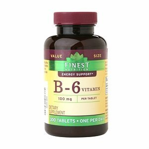 Finest Nutrition Vitamin B-6 100mg Tablets 300 ea by Finest Nutrition